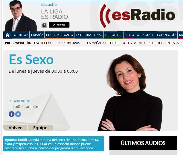 """Espíritu Tantra en el programa """"Es sexo"""" de Ayanta Barilli"""